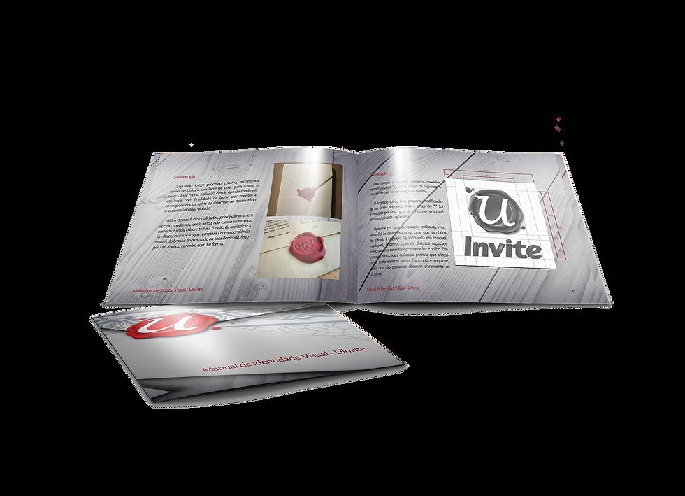 Manual de Identidade Visual Uinvite Portifólio