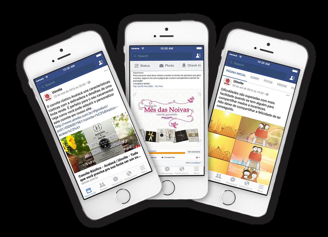 Comunicação, Divulgação e Marketing Uinvite Portifólio