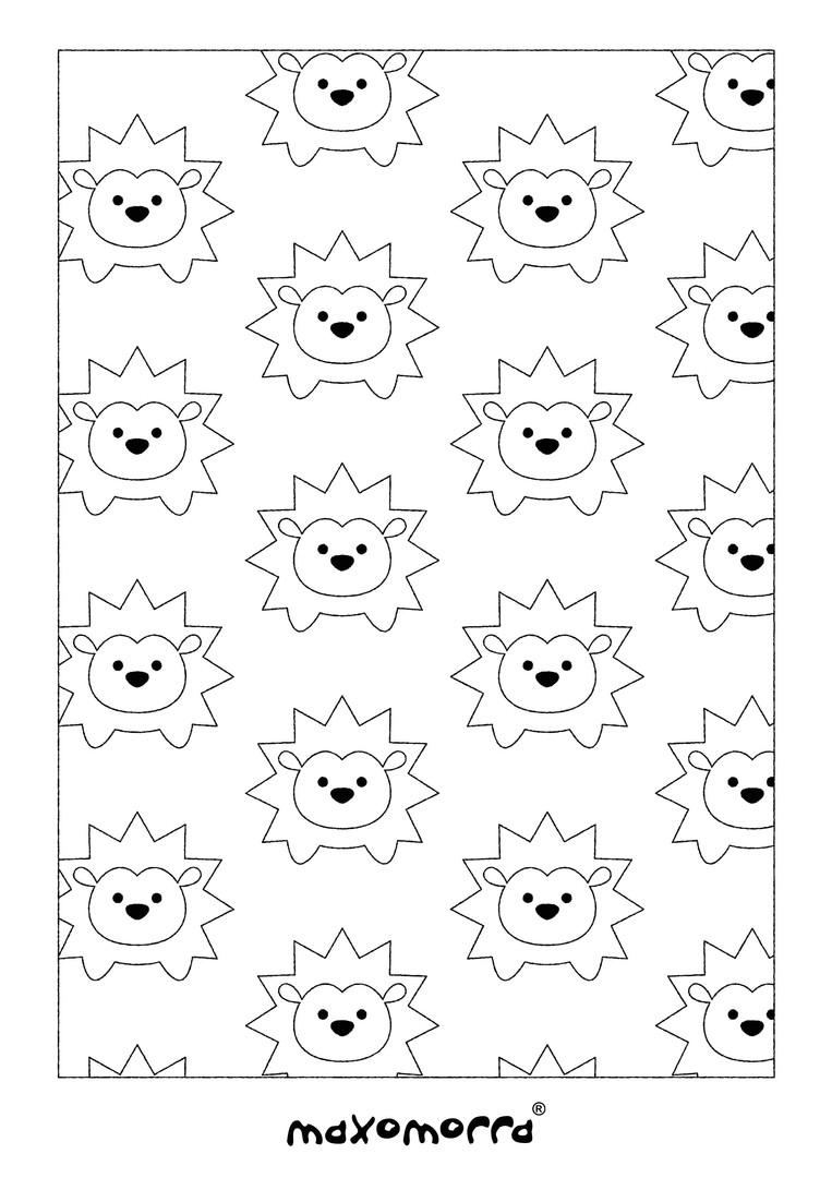 Maxomorra Hedgehog Colouring Page