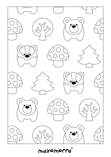 Maxomorra Forest Colouring Page