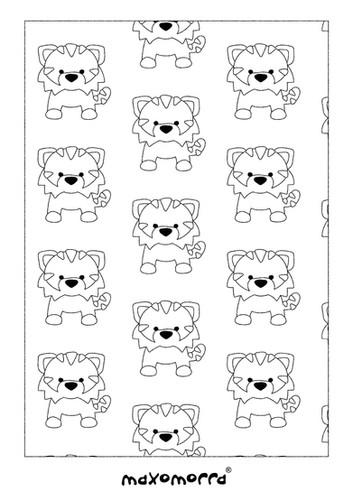 Maxomorra Tangerine Tiger Colouring Page