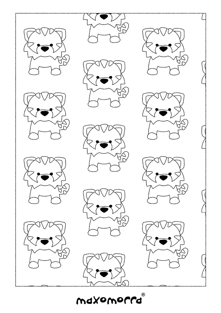 Maxomorra Tangerine Tiger Colouring Page