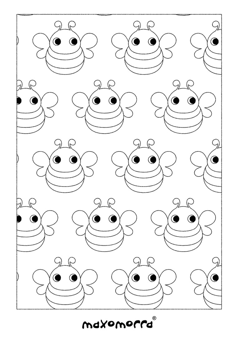 Maxomorra Bee Colouring Page