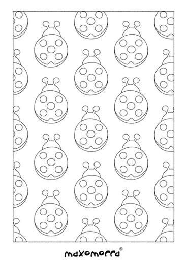 Maxomorra Lazy Ladybug Colouring Page.jp