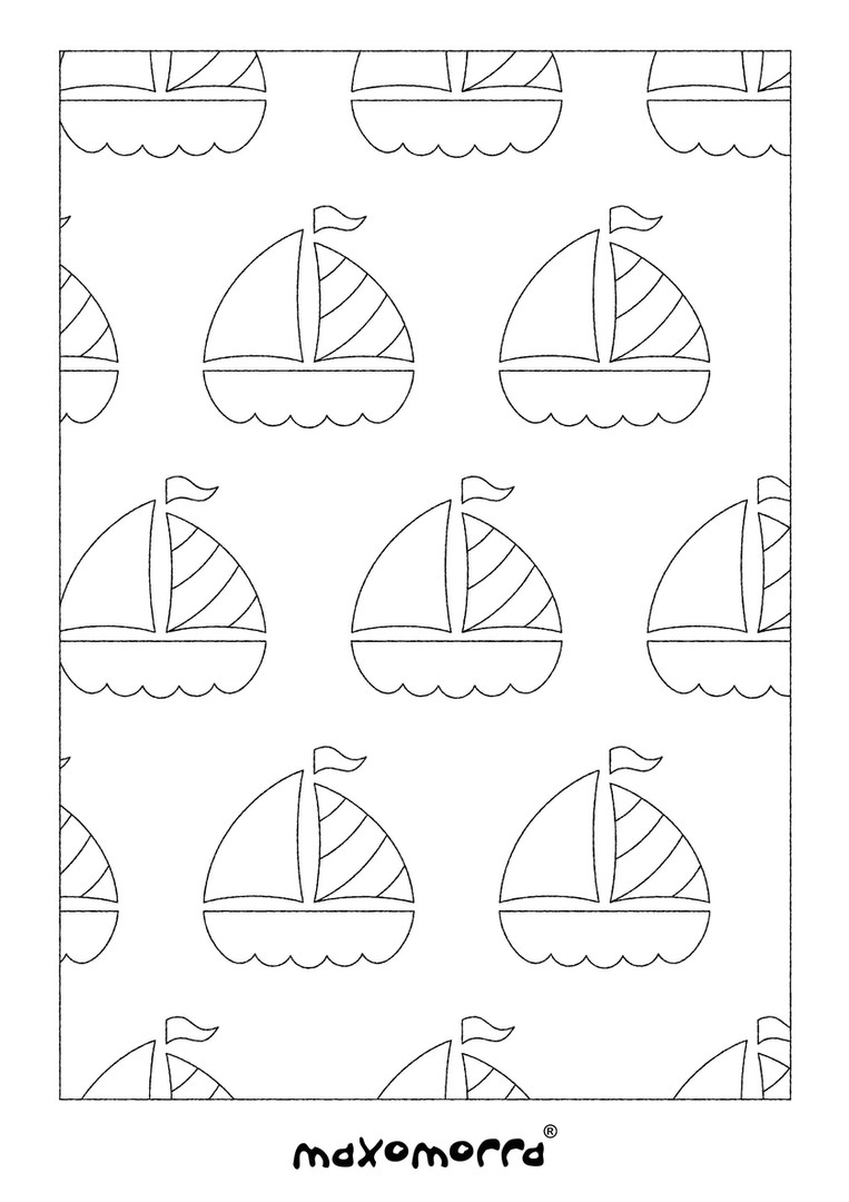 Maxomorra Boat Colouring Page