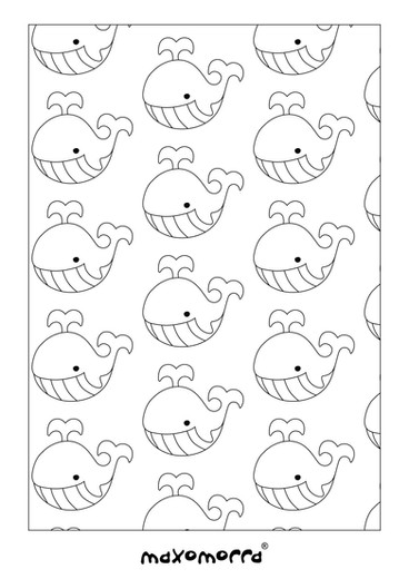 Maxomorra Whale Colouring Page