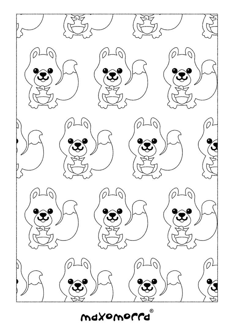 Maxomorra Squirrel Colouring Page