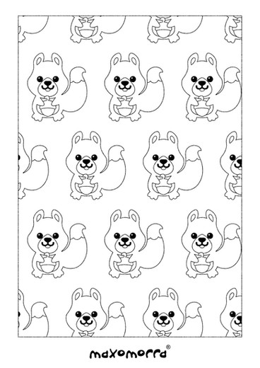 Maxomorra Squirrel Colouring Page