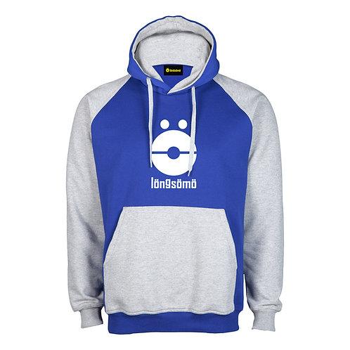 Sudadera LongSomo Bicolor Gris Claro/Azul Logo Vertical