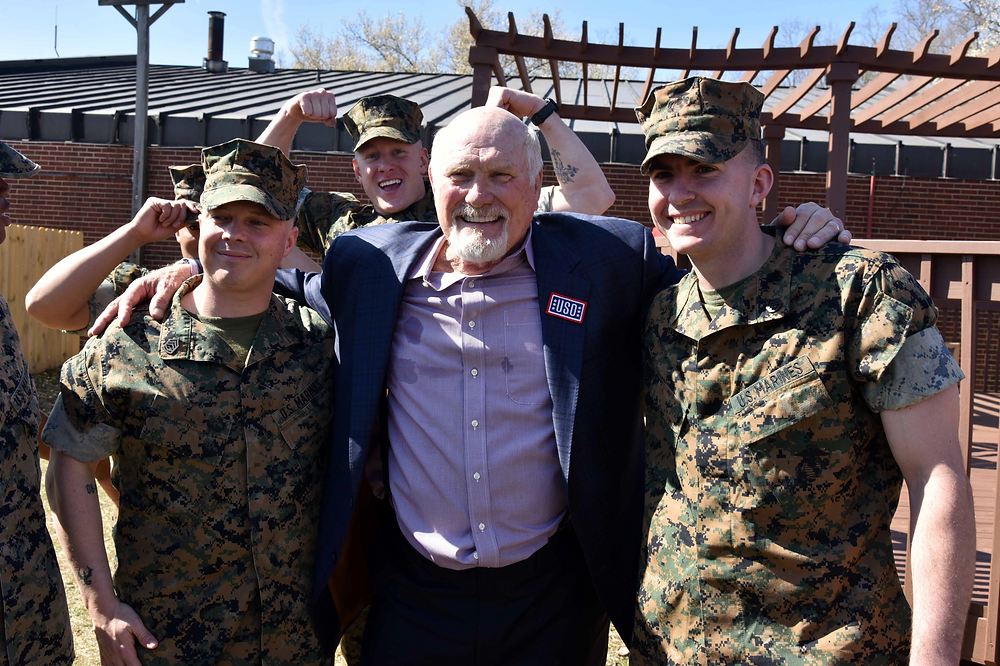Former NFL Star Terry Bradshaw w/ American troops