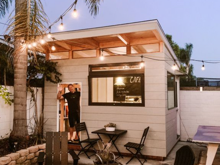 This Dad Built a Backyard Coffee Shop That'll Make You Want To Build Your Own