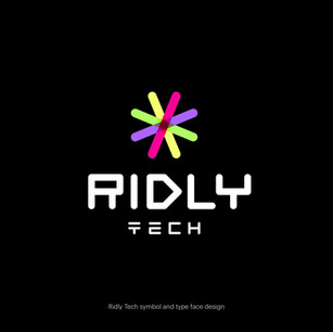 Ridly Tech symbol and type face design