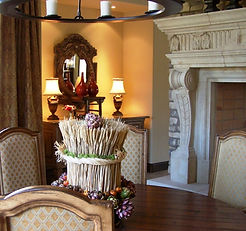 Big Horn Golf Club, Palm Desert, CA - Dining Room with Fireplace