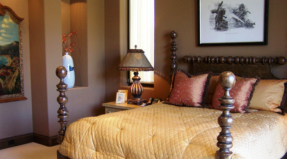Treasured artwork and objets d'art enhance feel of your bedroom