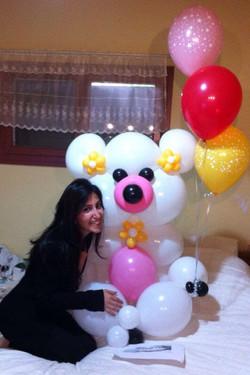 דובי ענק מבלונים - משלוח בלונים ליום