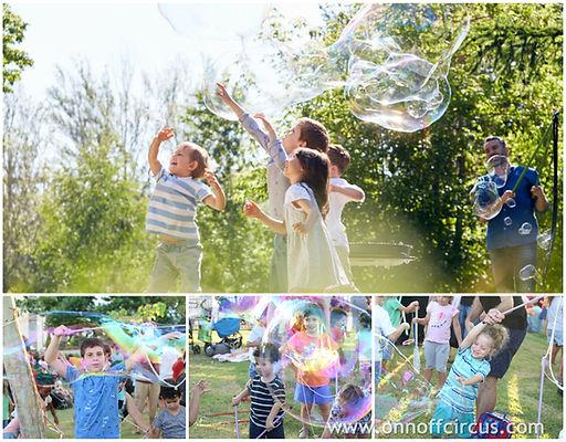 סדנת בועות ענק, סדנת בועות לילדים, בועות ענקיות, ילדים נהנים בסדנת בועות, הפעלת בועות