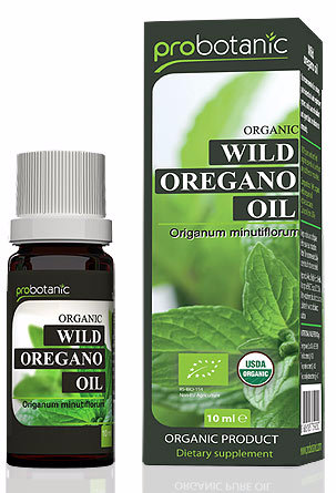 Organic wild oregano essential oil