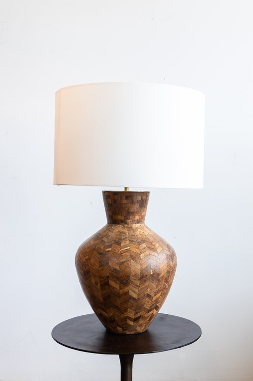 Santiago Wood Tile Lamp