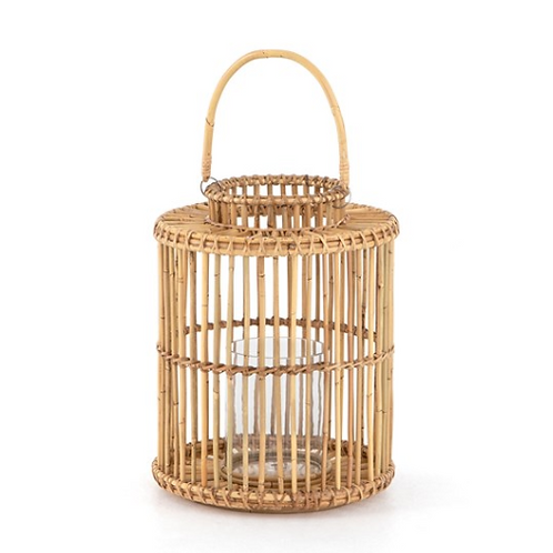 Caraway Small Lantern | Natural Rattan