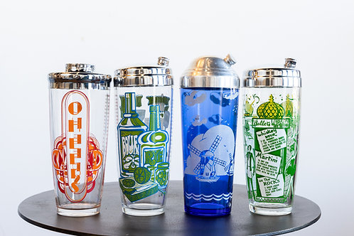 Vintage Cocktail Shakers