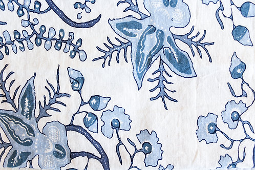 Ambala Blue Flower Pillow Case