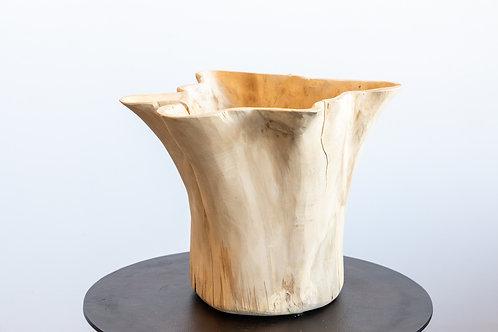 Teak Flower Pot Bleached