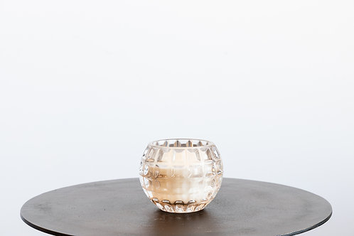 Pressed Glass Candle Holder