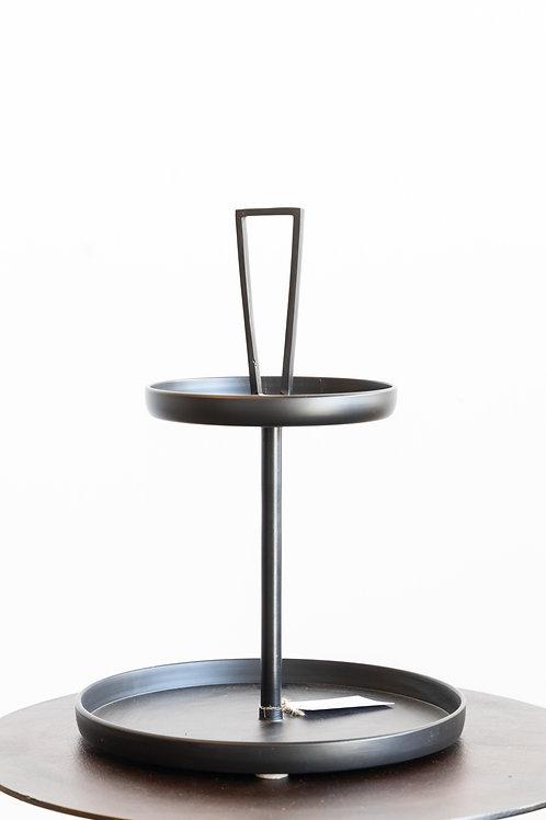 Decorative Metal 2 Tier Tray