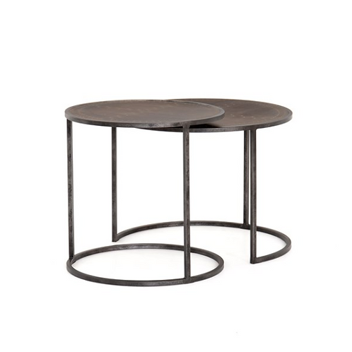 Catalina Nesting Table | Antique Brass Clad