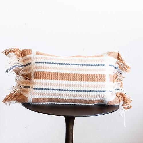 Terracotta Down Pillow 13x21w/Fringe