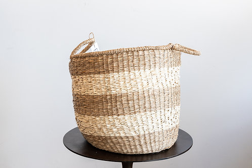 16 inch Round Seagrass Basket w/ Handles