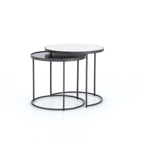 Evelyn Round Nesting Table