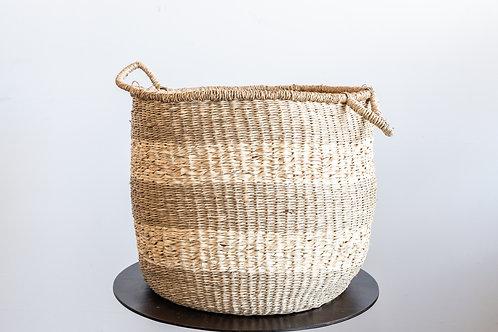 18 inch Round Seagrass Basket w/ Handles