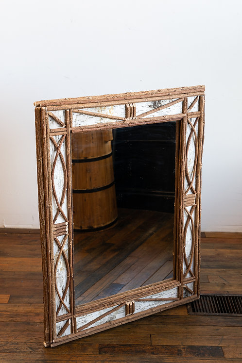 Handcrafted Mirror Willow Bark 28x36