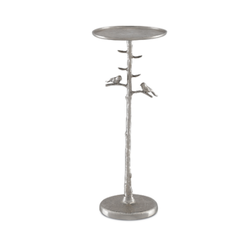 Piaf Silver Drinks Table