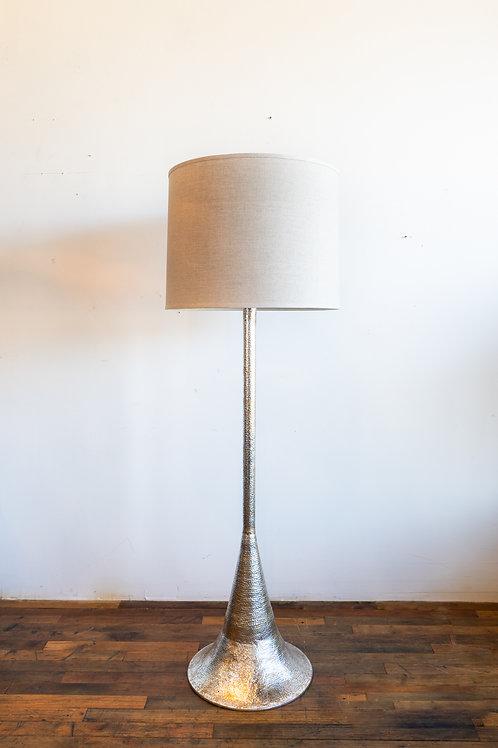 Hammered Metal Floor Lamp
