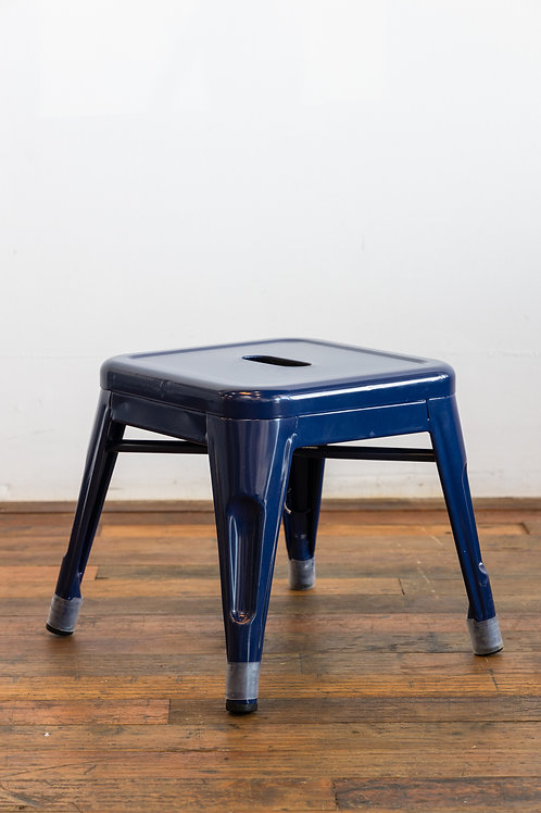 Square Blue Stool