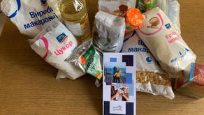 Перший збір на 300 продуктових наборів для потребуючих сімей з Києва закінчено!