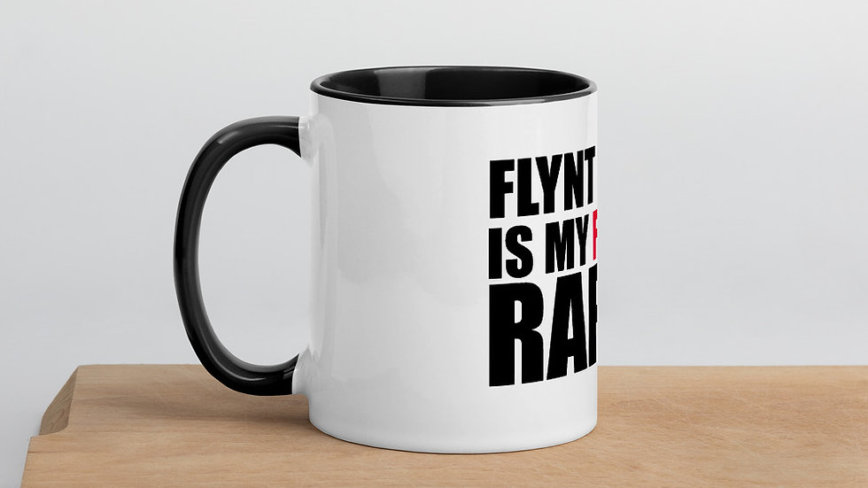 """FLYNT FLOSSY IS MY FAVORITE RAPPER"" coffee mug"