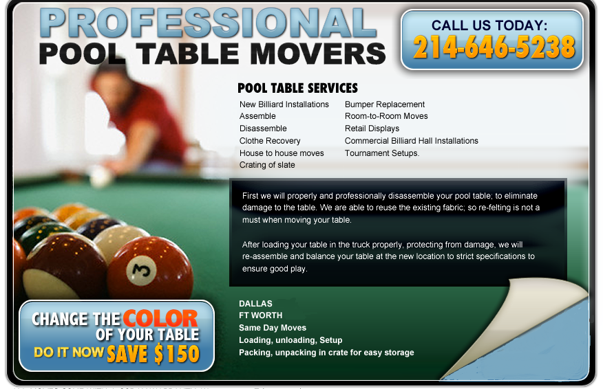 Pool Table Movers Pool Table Mover Pool Table Moving - Pool table moving service