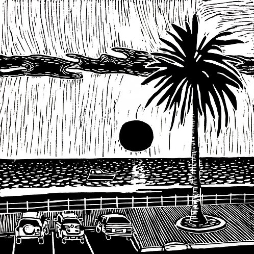 Dusk at Brighton Beach