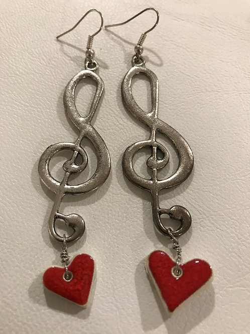 I Love Music - Earrings