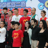 Picture of all performers, singers, dancers at the Festival.