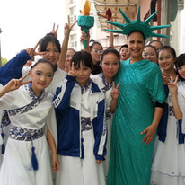 Dancers from China Festival in Shenzhen.