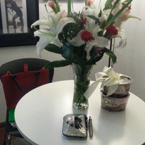 Flowers and chocolates given to me by American teachers for 1st Mother's Day away from home