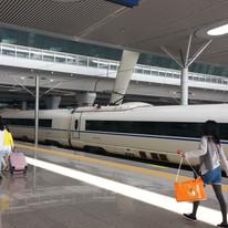 Taking the train from Shanghai to Taizhou