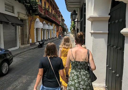 Walking in Cartagena