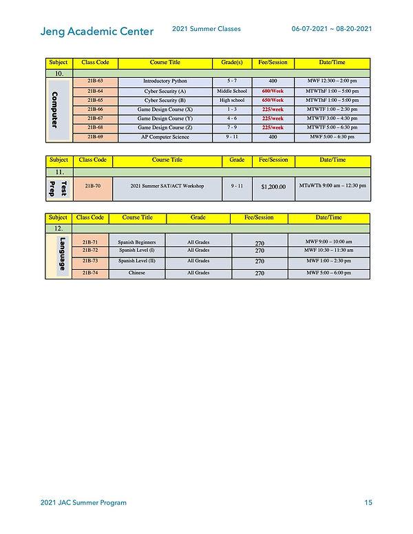 2021 Summer Program -Fee and Schedule-04