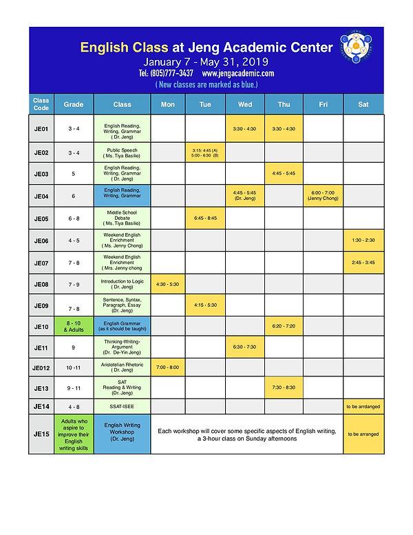 2019 Winter JAC Class Schedule-01-07-201