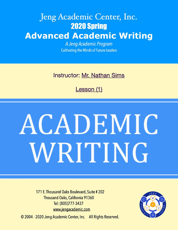 2020 Spring Advanced Academic Writing-Le